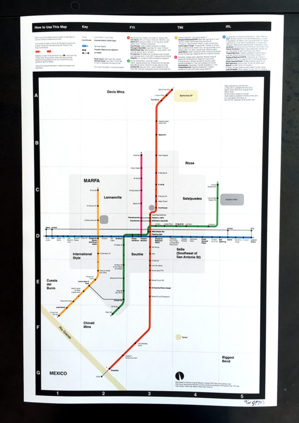 Marfa Subway Map